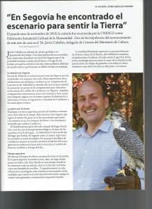 Entrevista al Dr. Javier Ceballos sobre el reconocimiento de la UNESCO y su estrecha relación con Segovia